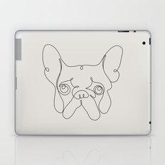 One Line French bulldog Laptop & iPad Skin