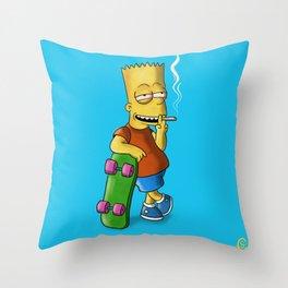 Yellow Skater Throw Pillow