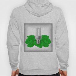 Energy saving bulb and green leaves Hoody