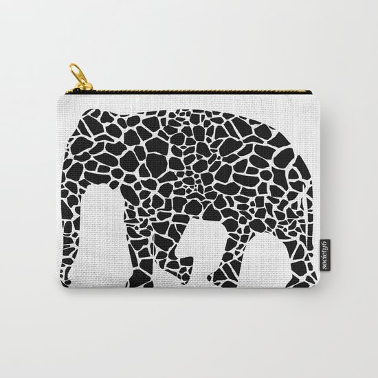 Elephant with giraffe print Carry-All Pouch