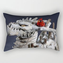 The Winter Tree Dragon Rectangular Pillow