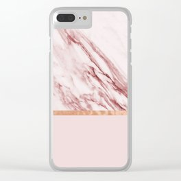 Alabaster rosa & rose gold on blush Clear iPhone Case