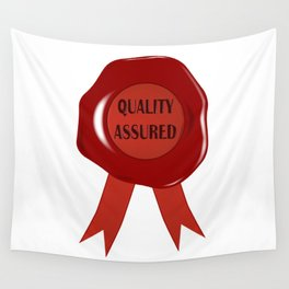 Wax Stamp Quality Assured Wall Tapestry