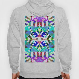 Abstract Iris - Aqua Hoody