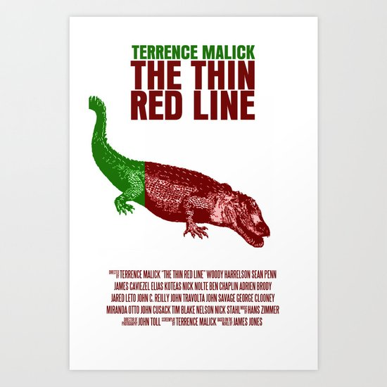 The Thin Red Line Movie Poster Art Print