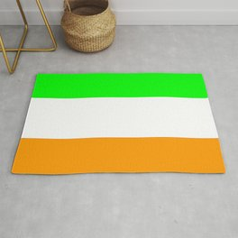 flag of ireland 5 -ireland,eire,airlann,irish,gaelic,eriu,celtic,dublin,belfast,joyce,beckett Rug