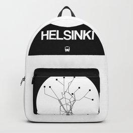 Helsinki White Subway Map Backpack