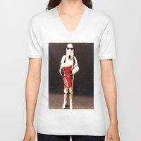coke V-neck T-shirts featuring Large Coke by Darth_Hermes