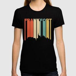 Retro 1970's Style Frankfort Kentucky Skyline T-shirt