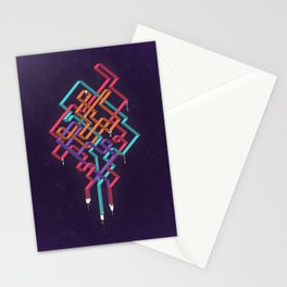 Weaving Lines Stationery Cards