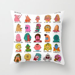 Feelings Revisited Throw Pillow