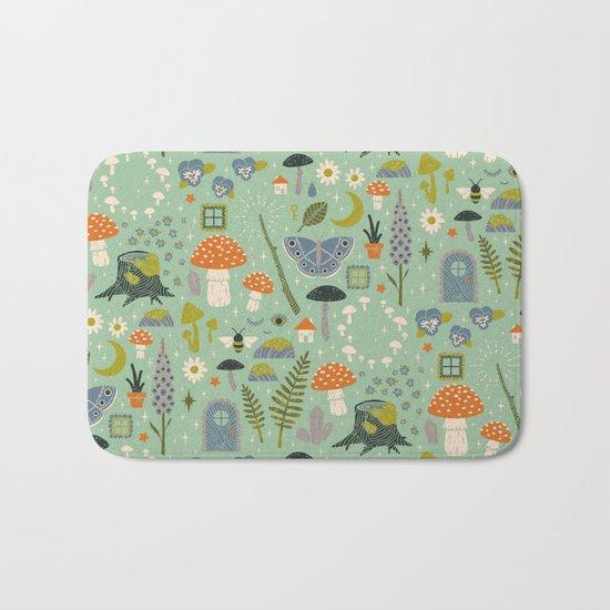 Fairy Garden Bath Mat
