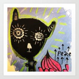 Peace Black Bear Art Print