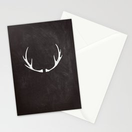 Chalkboard Art - Antlers Stationery Cards