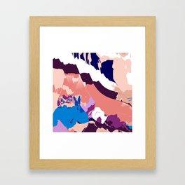 Blue bunny Meadows Framed Art Print