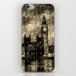 The Houses of Parliament London Vintage iPhone Skin