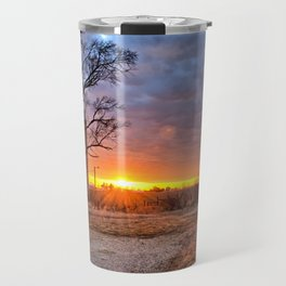 Grain Bin Sunset 3 Travel Mug