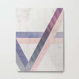 Unespected Geometry Metal Print