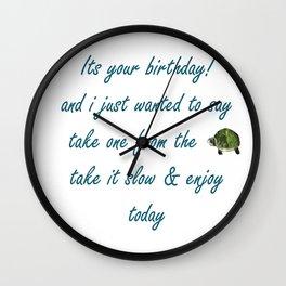 Birthday Turtle Wall Clock