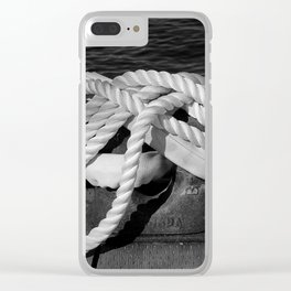 Mooring Rope tied to the dock Clear iPhone Case