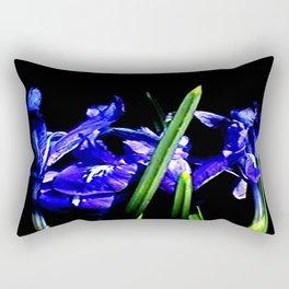 Among the Ladies Artist Series jGibney Irises Rectangular Pillow