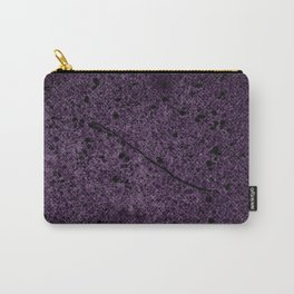 Dark Purple Abstract Carry-All Pouch