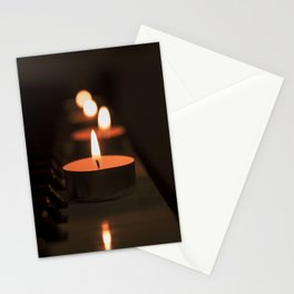 Candles on the piano Stationery Cards