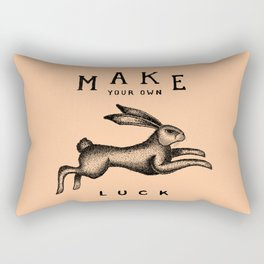 MAKE YOUR OWN LUCK (Coral) Rectangular Pillow