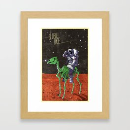 Global Okie Astronaut Framed Art Print