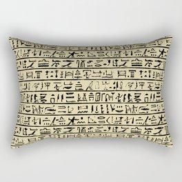 Egyptian Hieroglyphics // Tan Rectangular Pillow