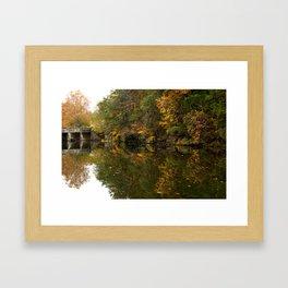 Fall Mirror Framed Art Print