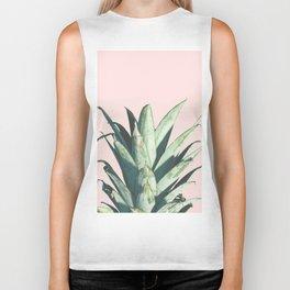 Pineapple on Blush Pink Biker Tank
