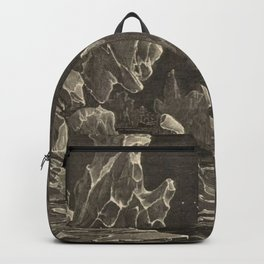 Camille Flammarion - Astronomie populaire  Black And White Magical Space Crystal Fantasy Landscape Backpack