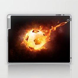 Fire Football Soccer Sport Laptop & iPad Skin