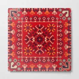 Romanian traditional pattern Metal Print