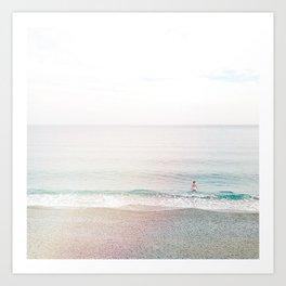 take a dip - Cinque Terre, Italy Art Print