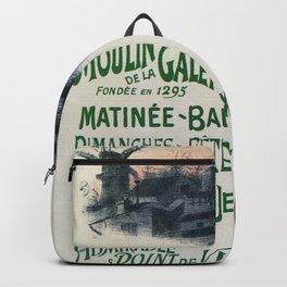 Moulin De La Galette 1896 Paris Backpack