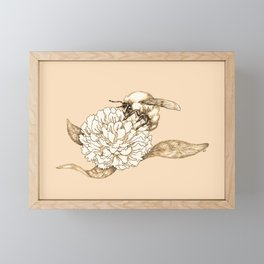 Where did the bees disappear? Framed Mini Art Print