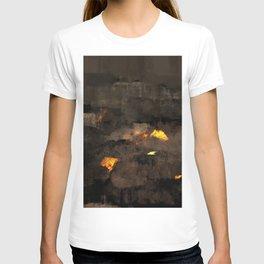 Abstract landscape nature texture lava fire geology digital illustration T-shirt