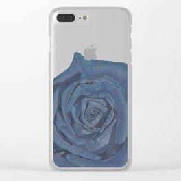 Blue Rose Clear iPhone Case