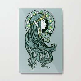Zelda Nouveau Metal Print