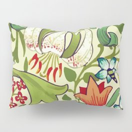 William Morris Garden Lily Floral Print Pillow Sham