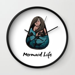 Mermaid Life Rock Painting By annmariescreations Wall Clock