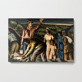 Classical Masterpiece 'The Underground Railroad' by James Michael Newell Metal Print