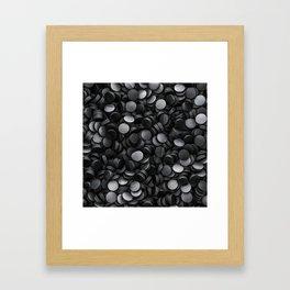 Hockey pucks Framed Art Print