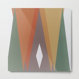 Triangles and Diamond Metal Print