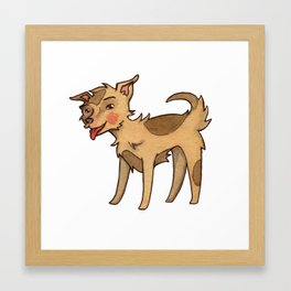 Lucky the Mixed Breed Framed Art Print
