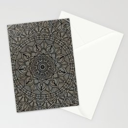 Circle of Life Mandala Brown and Blue Stationery Cards
