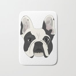 Custom Frenchie Portrait Bath Mat