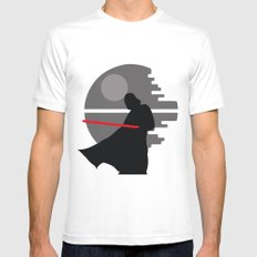 Darth Vader LARGE Mens Fitted Tee White